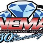 Doug Coby And Ryan Preece In Northeastern Midget Association Action At Lee USA Speedway