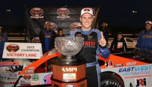 Ryan Preece celebrates his first NASCAR Whelen Modified Tour championship last October at Thompson Speedway (Photo: Darren McCollester/Getty Images for NASCAR)