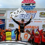 Matt Kenseth celebrates his Sylvania 300 victory Sunday at New Hampshire Motor Speedway (Photo: Justin Edmonds/Getty Images for NASCAR)