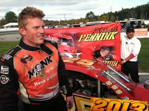 Rowan Pennink celebrates the 2013 Valenti Modified Racing Series championship