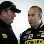 Todd Parrott (left) talks with Sprint Cup Series driver Marcos Ambrose during a test in January (Photo: Jared C. Tilton/Getty Images for NASCAR)