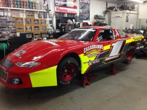 Cory Casagrande's Late Model in preparation for the 2014 season at Stafford Motor Speedway (Photo: Cory Casagrande)