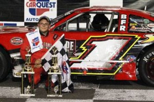 Corey Casagrande following his first career Late Model victory