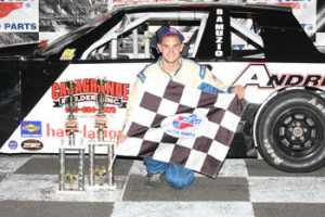 Kyle Casagrande following a DARE Stock victory in 2010