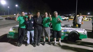 The Banta Racing team celebrates the 2013 Limited Sportsman championship at Thompson Speedway
