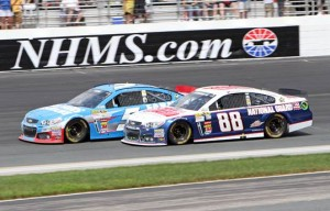 Dale Earnhardt Jr. (88) and Kasey Kahne (5) in competition at New Hampshire Motor Speedway (Photo: New Hampshire Motor Speedway)