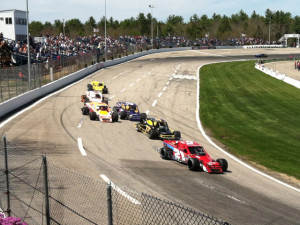 Modifieds on track May 11 for the Bullring Bash 100 at Lee USA Speedway.