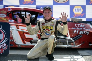 Ted Christopher celebrates his ninth SK Modified championship at Stafford Speedway Sunday (Photo: Getty Images for NASCAR)