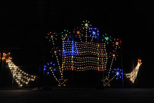 The Gift of Lights display opens Friday at New Hampshire Motor Speedway (Photo: Courtesy