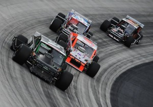 Whelen Modified Tour action at Bristol Motor Speedway in 2014 (Photo: Getty Images for NASCAR)