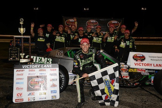 Bonsignore celebrating a Whelen Modified Tour victory last August at Thompson Speedway (Photo: Darren McCollester/Getty Images for NASCAR)