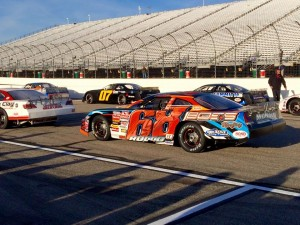 Jeff Rocco (68) waits to go out for ACT Invitational practice Saturday morning at New Hampshire Motor Speedway