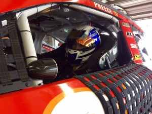 Ryan Preece during his first NASCAR Sprint Cup Series practice Friday at New Hampshire Motor Speedway