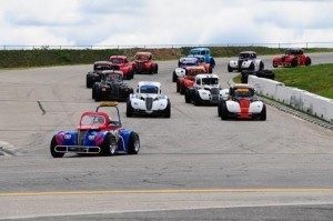 The Legends division competes on the road course at NHMS (Photo: Courtesy of New Hampshire Motor Speedway)