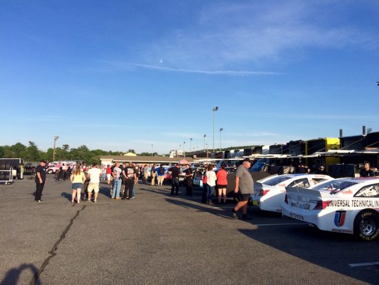 Fans were able to interact with teams and drivers in the Stafford Speedway paddock Thursday evening.