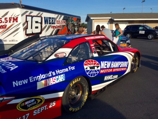 Fans were able to check out the New Hampshire Motor Speedway show car Thursday