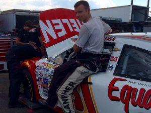 Reid Lanpher during K&N Pro Series East testing Thursday at Stafford Motor Speedway
