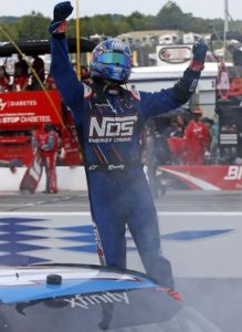 Kyle Busch celebrates victory in Saturday's XFINITY Series Auto Lotto 200 at New Hampshire Motor Speedway (Photo: New Hampshire Motor Speedway)