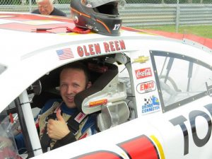 Glen Reen during a recent K&N Pro Series East test with Ted Marsh Racing