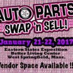 Auto Parts Swap 'N Sell Coming January 21-22 At Eastern States Expo In West Springfield