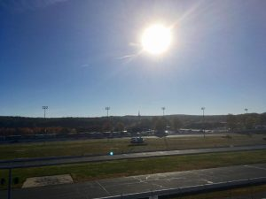 Practice began early Saturday morning for a busy day at the Sunoco World Series at Thompson Speedway