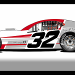 Rendering of one of the cars that will be part of the Tom Abele Jr. owned SK Light Modified stable at the New London-Waterford Speedbowl in 2017