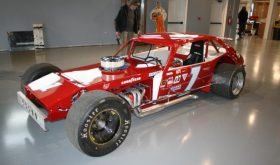 The No. 1 Modified driven to more than 50 victories by Geoff Bodine in 1978  is the first car on the floor at the North East Motor Sports Museum (Photo: New Hampshire Motor Speedway/North East Motor Sports Museum)