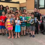 Whelen Mod Tour Driver Melissa Fifield And NHMS Officials Reward Youth Reading Program Winners