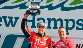 Kevin Lacroix Wins First NASCAR Pinty's Series Race In U.S. At NHMS