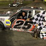 Charles Canfield Ready To Celebrate Speedbowl Mini Stock Title