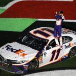 Denny Hamlin's Second Daytona 500 Win Celebration Follows Gibbs Team Tradition