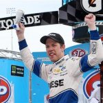 Brad Keselowski Holds Off Chase Elliott For Martinsville Monster Energy Cup Win