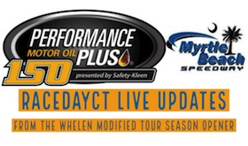 Live Updates From Whelen Modified Tour Season Opener At Myrtle Beach Speedway