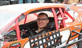 Woody Pitkat Eager For Another Whelen Mod Tour NAPA Spring Sizzler Trophy From Stafford