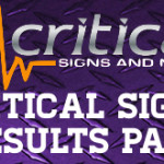Critical Signs Results Page