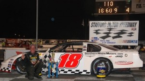 Ted Christopher after winning in a Pro All Stars Series event at Stafford Speedway in 2012 (Photo: Nicholas Teto)