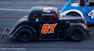 Joey Ferrigno racing his Legend car (Photo: Alisha Lee Photography)