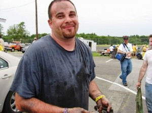 Joey Ferrigno competing in the 24 Hours of LeMons at Stafford Motor Speedway in 2010