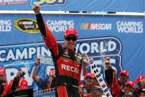 Brad Keselowski celebrates his third Sprint Cup win of the season Sunday at New Hampshire Motor Speedway (Photo:Matt Sullivan/Getty Images for NASCAR)