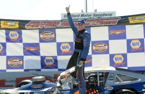 Ryan Preece celebrates his sixth SK Modified victory of 2014 Sunday at Stafford Speedway (Photo: Getty Images for NASCAR)
