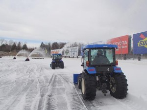 Crews work to remove snow recently at New Hampshire Motor Speedway (Photo courtesy of New Hampshire Motor Speedway)