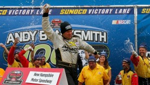 Todd Szegedy celebrates victory Saturday at New Hampshire Motor Speedway (Photo: Getty Images for NASCAR)