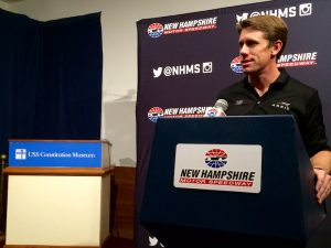 Sprint Cup Series driver Carl Edwards at the USS Constitution Museum Tuesday in Boston